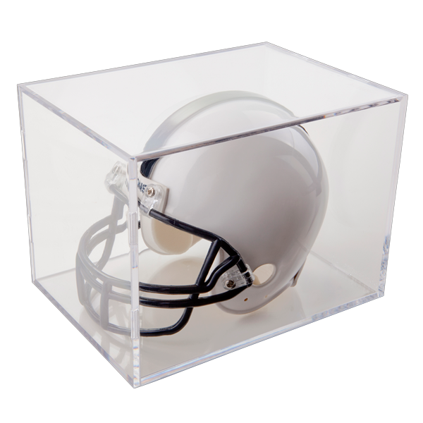 "Case of 8 UV Protected Ball Qube mini Helmet Display Cubes 7""x 5""x 5"""